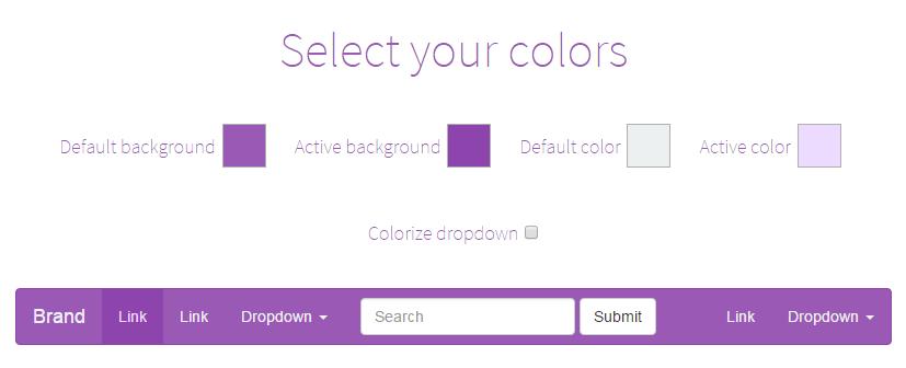 bootstrapのnabbarの色を変更